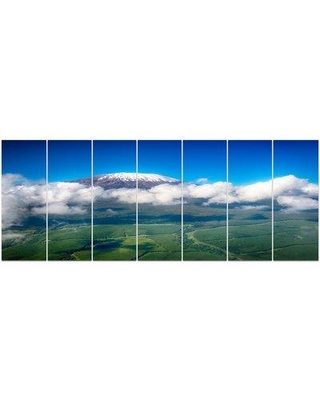 Design Art 'Aerial View of Mount Kilimanjaro' Photographic Print Multi-Piece Image on Canvas, Canvas & Fabric in Brown/Blue/Green | Wayfair