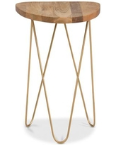 Faelen Accent Table - Gold