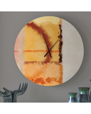 New Deal For Cerebral Epicurean Abstract Wall Clock Ebern Designs Size Medium