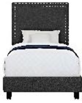 Emery Upholstered Twin Platform Bed - Picket House Furnishings UMY090TB