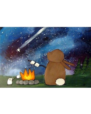 """Marmont Hill 'Campfire' by Andrea Doss Painting Print on Wrapped Canvas MH-ADRDOS-31-C- Size: 40"""" H x 60"""" W"""