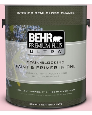 BEHR ULTRA 1 gal. #130A-2 Fading Rose Semi-Gloss Enamel Interior Paint and Primer in One