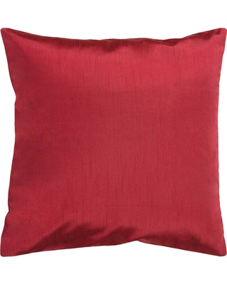 Artistic Weavers Visoko Dark Red Solid Polyester 22 in. x 22 in. Throw Pillow