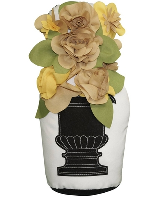 Outdoor Potted Topiary Door Stopper Gold - Edie@Home
