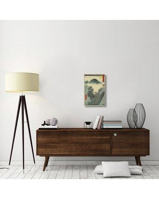 "East Urban Home 'Okabe 1855' Graphic Art Print on Canvas ESUH2422 Size: 24"" H x 16"" W x 1.5"" D"