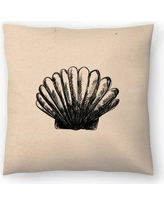 "East Urban Home Jetty Printables Illustrated Sea Shell 3 Throw Pillow EUHG3568 Size: 18"" x 18"""