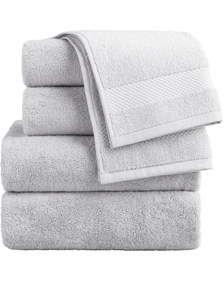 Pebble Gray Cotton Bath Towel Collection by World Market