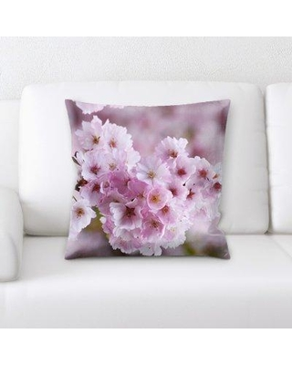 East Urban Home Cherry Blossoms Throw Pillow W001058169