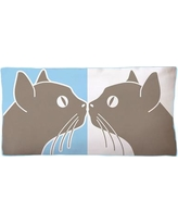 Naked Decor Kissing Cats Double Sided Cotton Boudoir/Breakfast Pillow kissing-cats