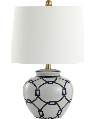 Anders White and Blue Table Lamp
