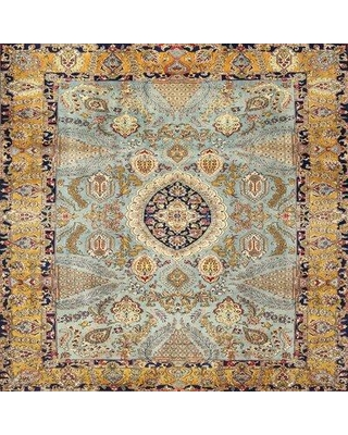 Bloomsbury Market Ulrich Traditional Gray/Brown Area Rug X112596791 Rug Size: Square 4'