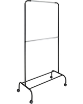 2- Tier Garment Racks - Black/Silver - Room Essentials