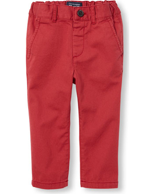 18ab070713f s Baby And Toddler Boys Woven Skinny Chino Pants - Red - The Children s  Place