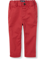 s Baby And Toddler Boys Skinny Chino Pants - Red - The Children's Place
