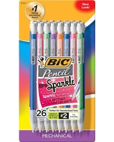 Bic #2 Mechanical Pencil with Xtra Sparkle, 0.7mm, 26ct - Multicolor, Assrt