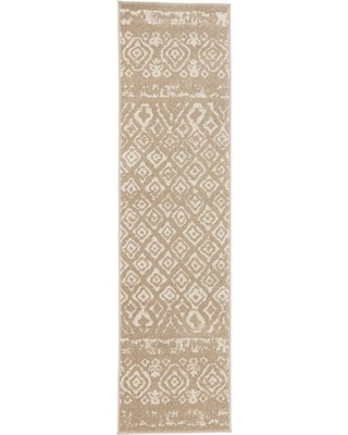 Home Decorators Collection Tribal Essence Beige 2 ft. x 7 ft. Runner Rug