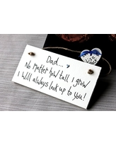 MadeAt94 Dad No Matter How Tall I Grow Father's Day Birthday Gift Sign