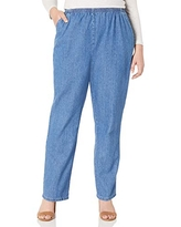 Chic Classic Collection Women/'s Stretch Elastic Waist Pull-on Pant Mid Shade