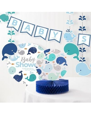 The Party Aisle Baby Whale Baby Shower Decoration Kit