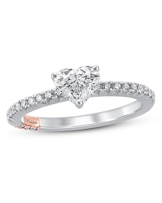 Jared The Galleria Of Jewelry Pnina Tornai My Everything Diamond Engagement Ring 1 ct tw Heart/Round 14K Two-Tone Gold