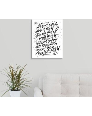 "Winston Porter 'Star of Wonder' Textual Art Print on Canvas W000624732 Format: Wrapped Canvas Size: 20"" H x 16"" W x 1.25"" D"