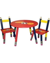 ORE Furniture Kids 3 Piece Table and Chair Set H-58