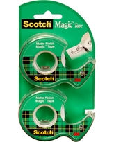"Scotch Magic Tape, 3/4"" x 600"", 2PK, Clear"