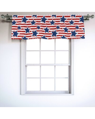"""4th of July 54"""" Window Valance East Urban Home"""
