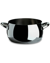 A Di Alessi,AJM102//28POTS /& PANS Low casserole with two handles in 18//10 stainless steel mirror polished,5 qt 27 oz AJM102//28POTS /& PANS Alessi USA
