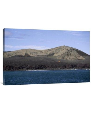 """East Urban Home 'Surtsey Island New Volcanic Island Westman Islands Iceland' Photographic Print EAUB5143 Size: 24"""" H x 36"""" W Format: Wrapped Canvas"""