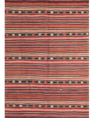 Contemporary Red/Green Area Rug