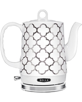 BELLA 1.2L Electric Ceramic Tea Kettle with detachable base and boil dry protection