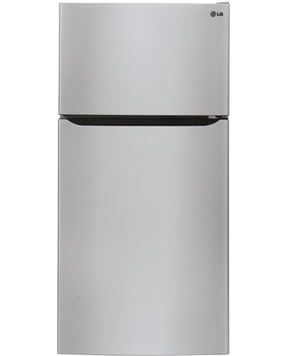 LG Electronics 23.8 cu. ft. Top Freezer Refrigerator with Reversible Door, Internal Water Dispenser and Ice Maker in Stainless Steel, Silver
