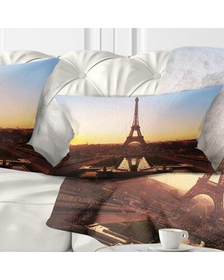 31 Off East Urban Home Silhouette Of Paris Eiffel Tower Cityscape Pillow Fsct0914 Size 12 X 20 Product Type Lumbar Pillow
