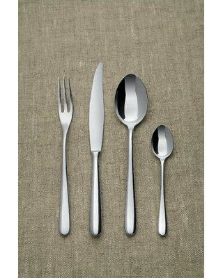 Alessi Caccia by Luigi Caccia Dominioni 24 Piece 18/10 Stainless Steel Flatware Set Service for 6 LCD01S24 Table Fork Style: 3 Prong Type: Monobloc
