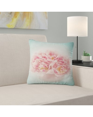 """Floral Tulips Pillow East Urban Home Size: 16"""" x 16"""", Product Type: Throw Pillow"""