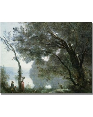 "Trademark Art ""Souvenir of Montefontaine"" by Jean Baptiste Corot Painting Print on Canvas BL0850-C Size: 18"" H x 24"" W x 2"" D"