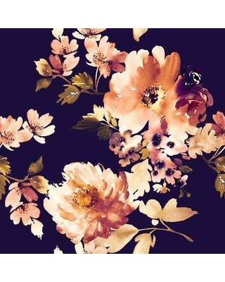 """House of Hampton Carlson Removable Vintage Watercolor Floral 8.33' L x 100"""" W Peel and Stick Wallpaper Roll BF182781"""