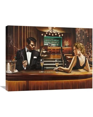 """Global Gallery 'A Grand Night Out' by Pierre Benson Painting Print on Wrapped Canvas GCS-460910 Size: 24"""" H x 32"""" W x 1.5"""" D"""