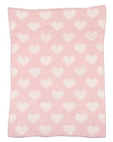 Heart Chenille Baby Blanket Living Textiles Baby