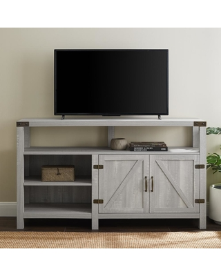 Walker Edison Furniture Company 16 in. Stone Gray Composite TV Stand 65 in. with Doors, Stone Grey