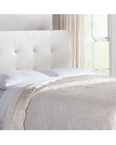 Lark Manor Ponce Floral Quilt LARK2249 Size: Queen, Color: Ivory