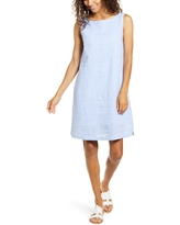 Women's Beachlunchlounge Alina Stripe Linen & Cotton Shift Dress, Size X-Small - Blue