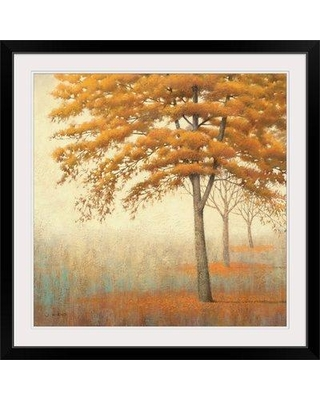 """Great Big Canvas 'Autumn Trees I' by James Wiens Painting Print 1059189_1 Size: 20"""" H x 20"""" W x 1"""" D Format: Black Framed"""
