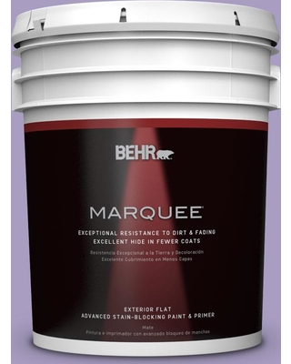 BEHR MARQUEE 5 gal. #M560-4 Evening Slipper Flat Exterior Paint and Primer in One