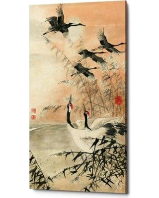 """World Menagerie 'Meet at Sunrise' Graphic Art Print on Canvas BF211479 Size: 60"""" H x 30"""" W x 1.5"""" D"""