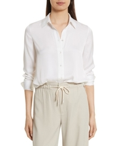Women's Vince Slim Silk Blouse, Size Small - White