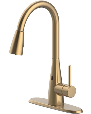 Savings On Glacier Bay Vazon Touchless Single Handle Pull Down Sprayer Kitchen Faucet With Turbospray In Matte Gold