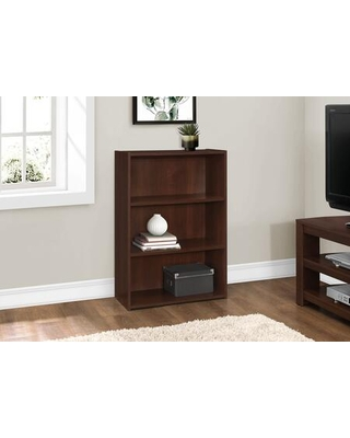 """I 7475 36""""H 3 Shelves Bookcase in Cherry"""