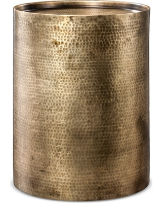 Great Deal On Manila Cylinder Drum Accent Table Brass Project - Brass drum side table